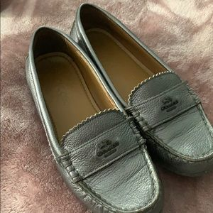 Silver Coach shoes 👞 loafers